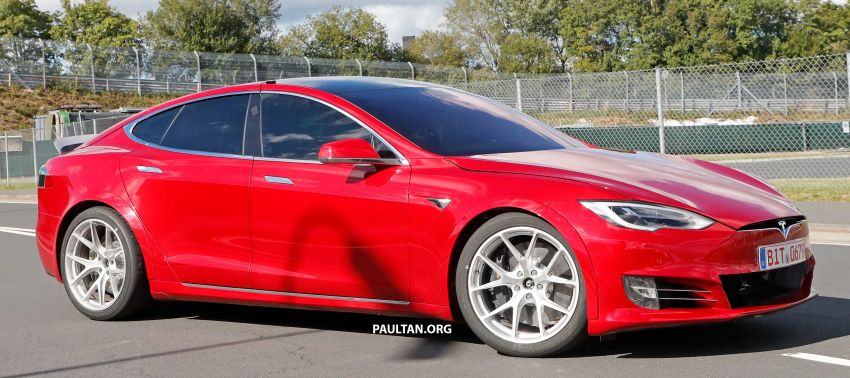 SPYSHOTS: Modified Tesla Model S testing near Nurburgring; lap record attempt, special edition soon? Image #1015451