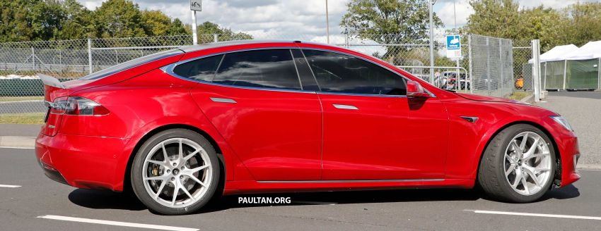 SPYSHOTS: Modified Tesla Model S testing near Nurburgring; lap record attempt, special edition soon? Image #1015454
