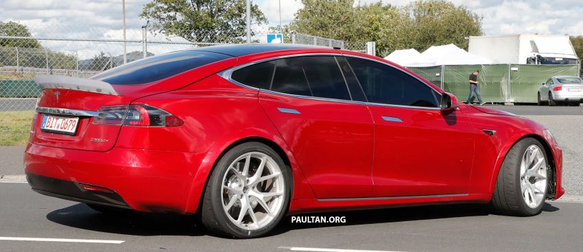 SPYSHOTS: Modified Tesla Model S testing near Nurburgring; lap record attempt, special edition soon? Image #1015457