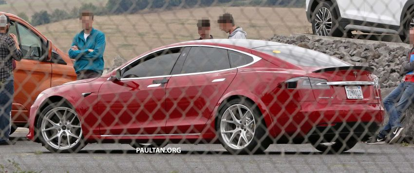 SPYSHOTS: Modified Tesla Model S testing near Nurburgring; lap record attempt, special edition soon? Image #1014512
