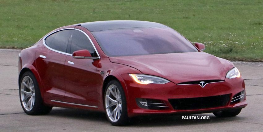 SPYSHOTS: Modified Tesla Model S testing near Nurburgring; lap record attempt, special edition soon? Image #1014523