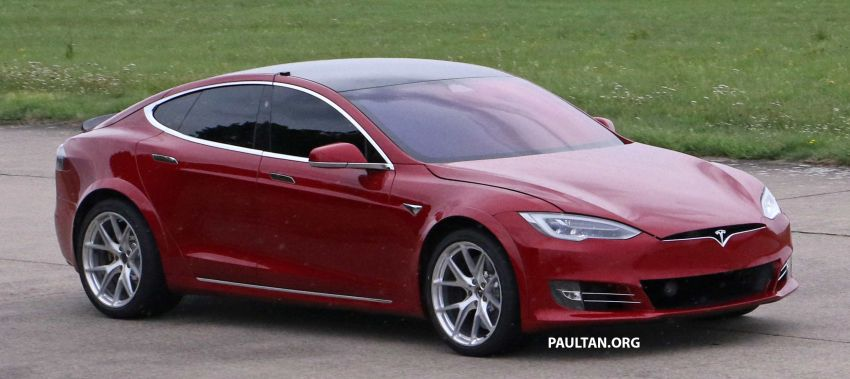 SPYSHOTS: Modified Tesla Model S testing near Nurburgring; lap record attempt, special edition soon? Image #1014524