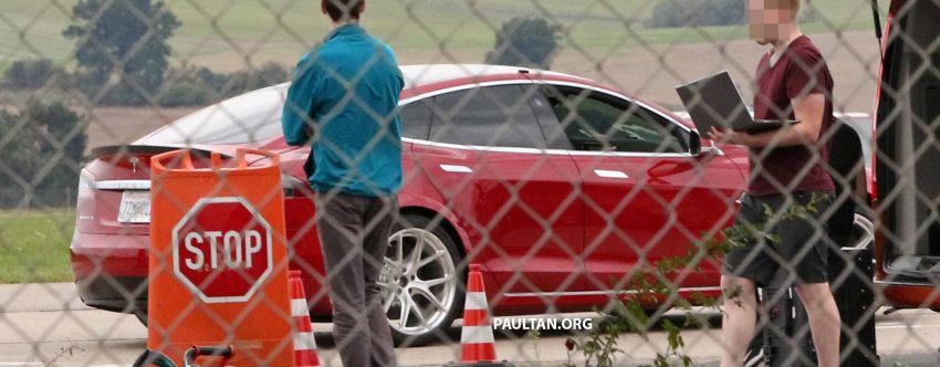 SPYSHOTS: Modified Tesla Model S testing near Nurburgring; lap record attempt, special edition soon? Image #1014529