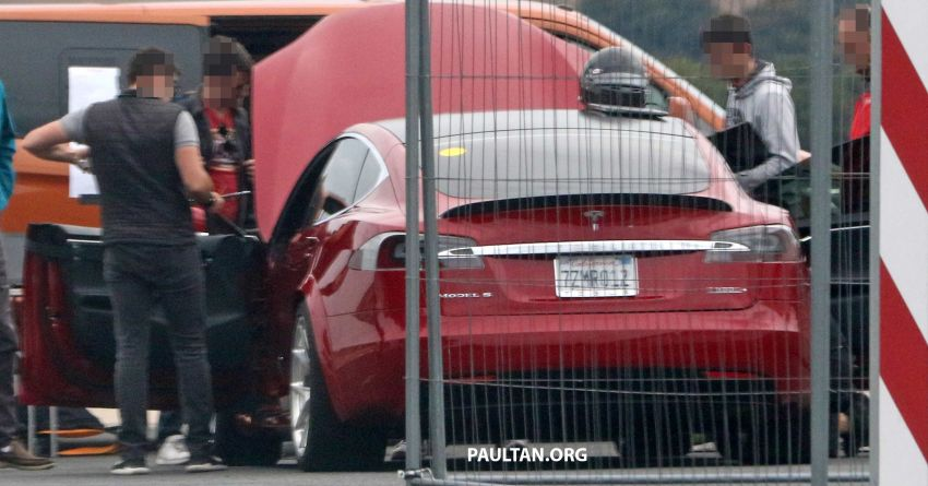 SPYSHOTS: Modified Tesla Model S testing near Nurburgring; lap record attempt, special edition soon? Image #1014530