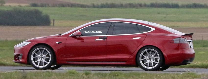 SPYSHOTS: Modified Tesla Model S testing near Nurburgring; lap record attempt, special edition soon? Image #1014513