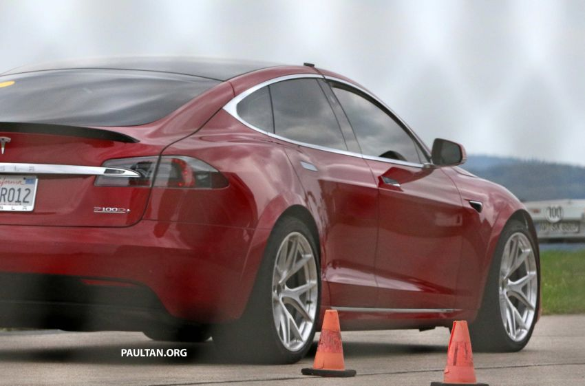SPYSHOTS: Modified Tesla Model S testing near Nurburgring; lap record attempt, special edition soon? Image #1014514