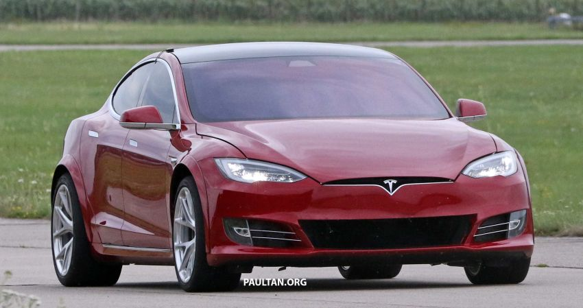 SPYSHOTS: Modified Tesla Model S testing near Nurburgring; lap record attempt, special edition soon? Image #1014516