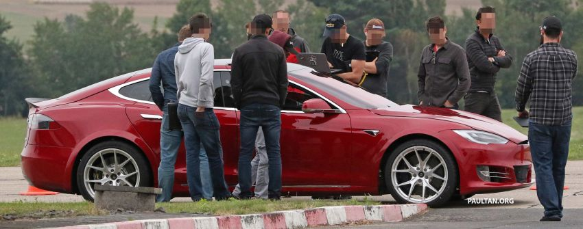 SPYSHOTS: Modified Tesla Model S testing near Nurburgring; lap record attempt, special edition soon? Image #1014520