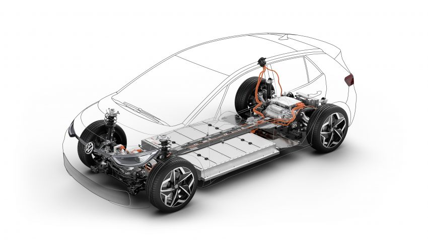 Volkswagen ID.3 pure electric car debuts – rear-wheel drive, up to 550 km range; from RM138k in Germany Image #1012173