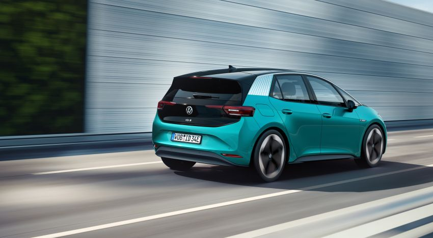 Volkswagen ID.3 pure electric car debuts – rear-wheel drive, up to 550 km range; from RM138k in Germany Image #1012251