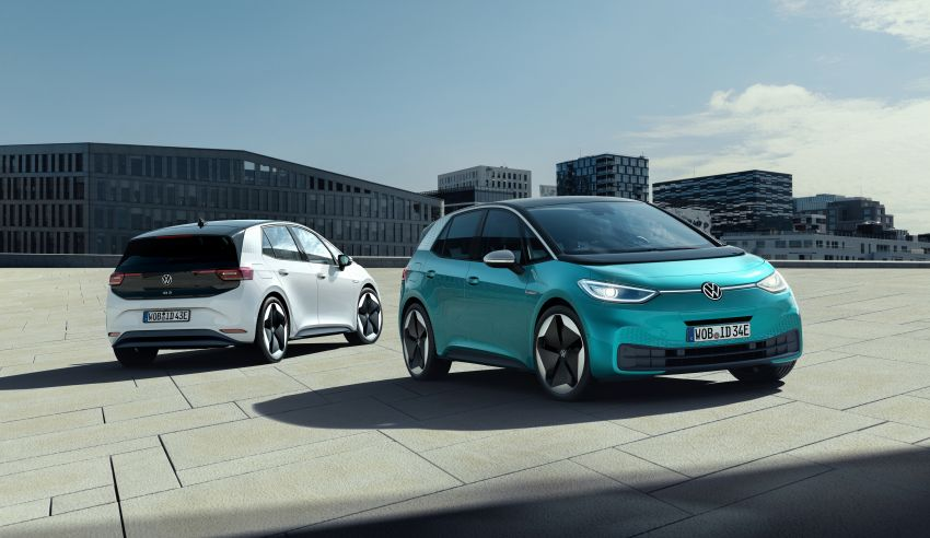 Volkswagen ID.3 pure electric car debuts – rear-wheel drive, up to 550 km range; from RM138k in Germany Image #1012258