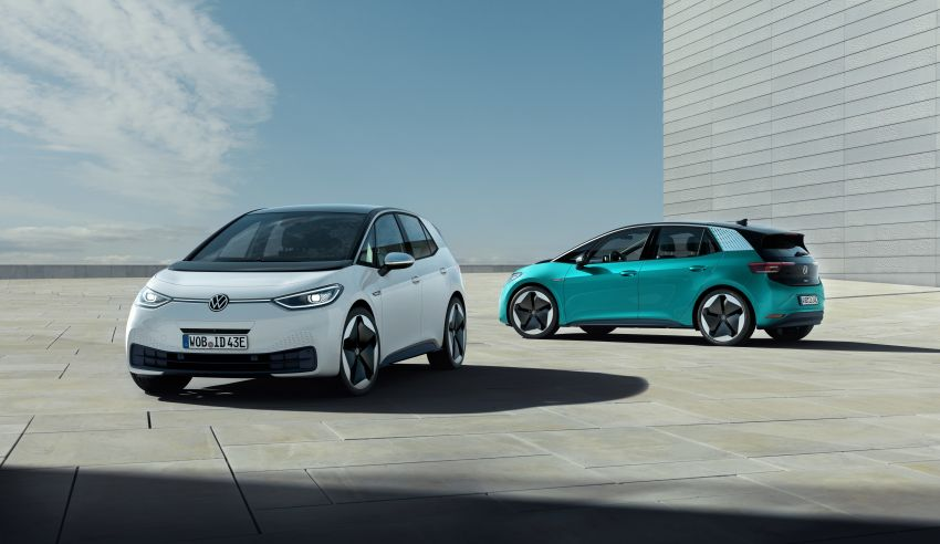 Volkswagen ID.3 pure electric car debuts – rear-wheel drive, up to 550 km range; from RM138k in Germany Image #1012262