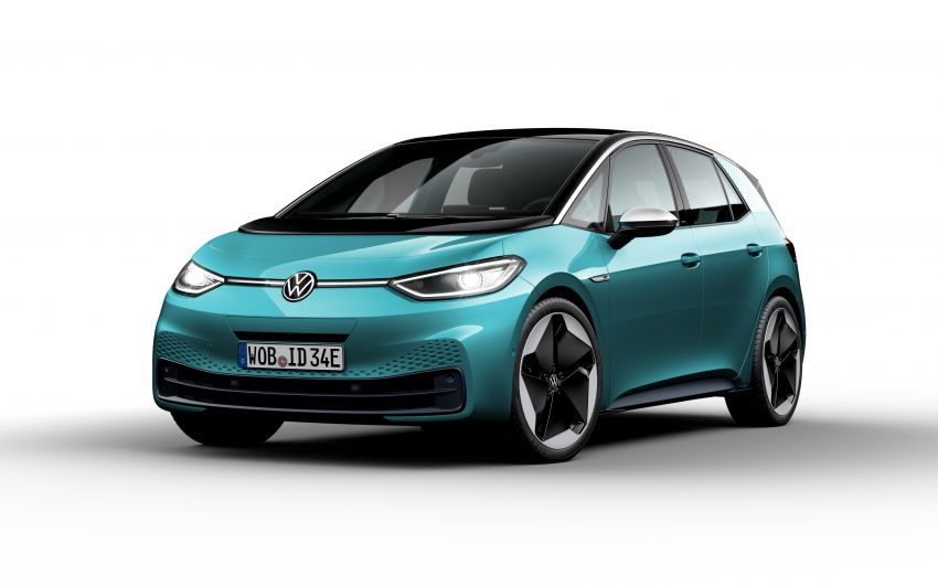 Volkswagen ID.3 pure electric car debuts – rear-wheel drive, up to 550 km range; from RM138k in Germany Image #1012287
