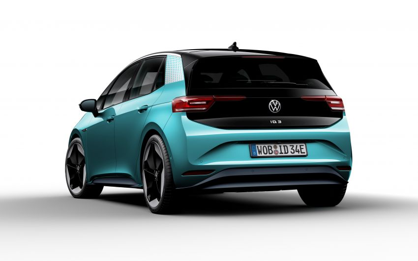 Volkswagen ID.3 pure electric car debuts – rear-wheel drive, up to 550 km range; from RM138k in Germany Image #1012289