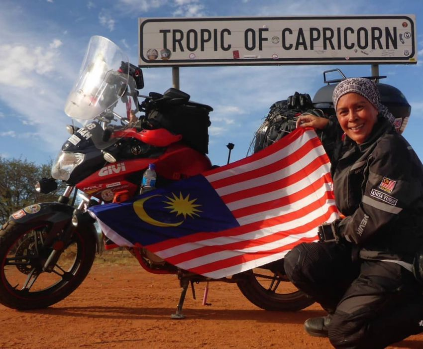 Malaysian lady rider Anita Yusof sets off on second Global Dream Ride – 7 continents, 70 countries Image #1028103