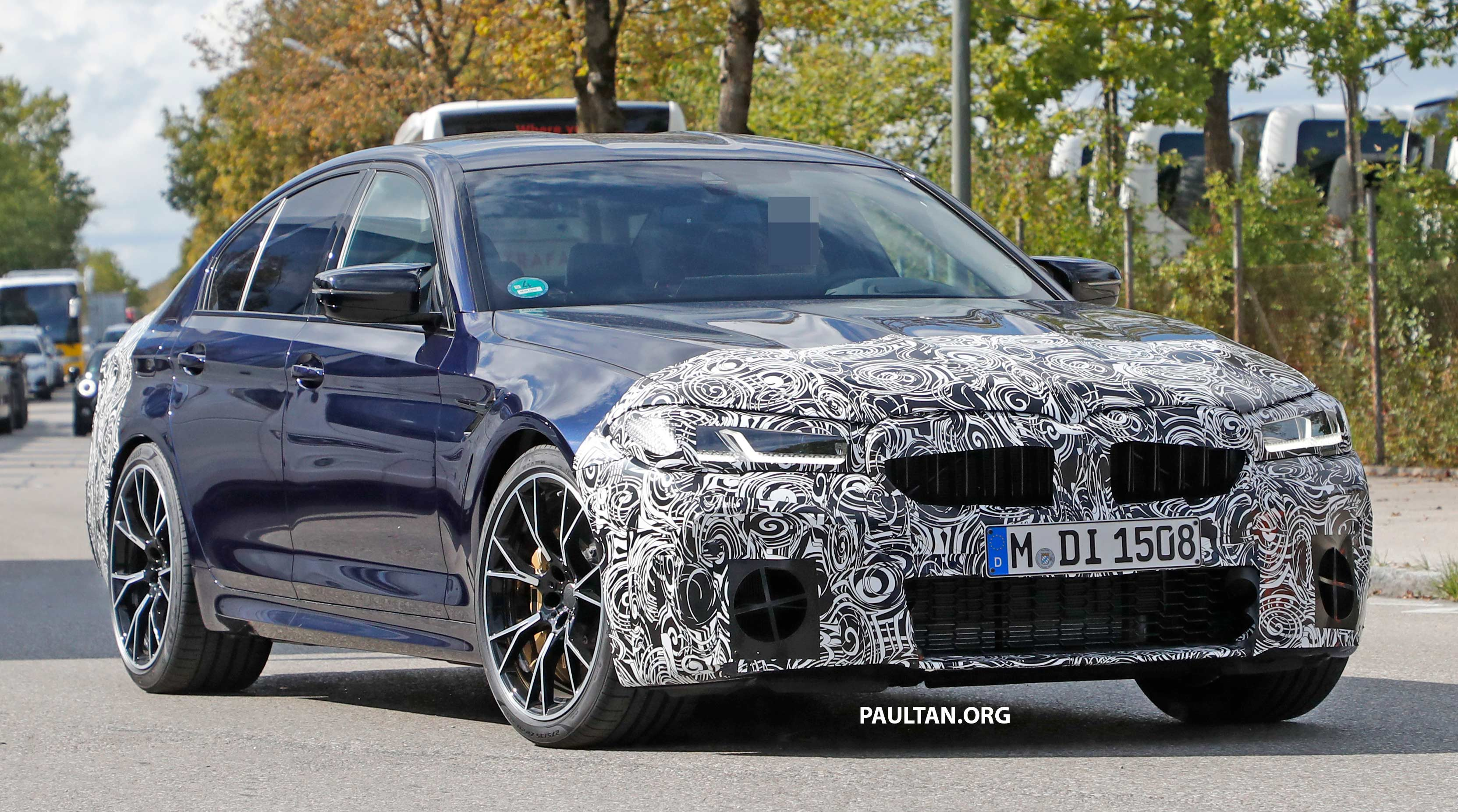Spied F90 Bmw M5 Lci Revised Engine Interior Trim Paultan Org
