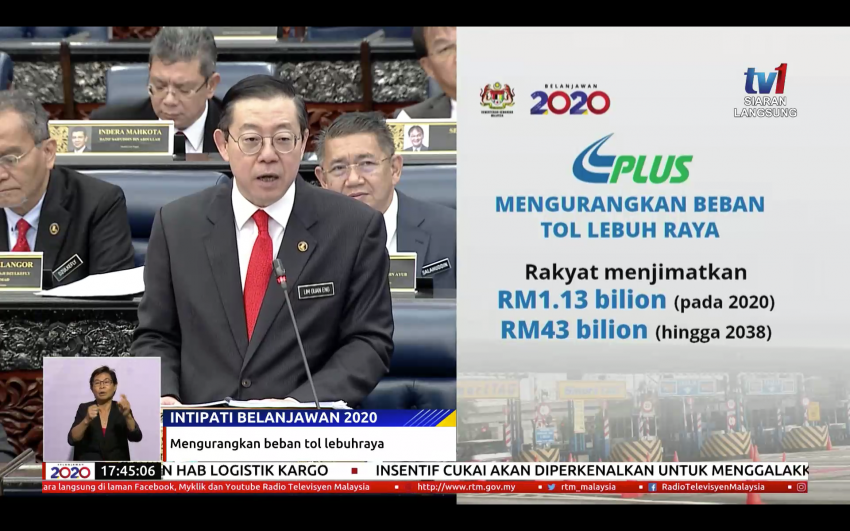Budget 2020: PLUS Malaysia to offer 18% discount on toll charges from 2020 – motorists save RM1.13 bil Image #1029372