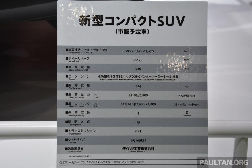 Tokyo 2019: Daihatsu tayang SUV kompak baharu – imej awal bagi SUV segmen-B D55L Perodua? Image #1034603