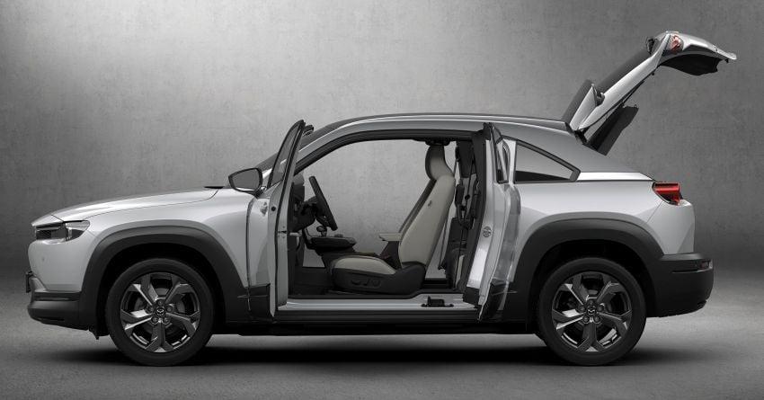 Tokyo 2019: Mazda MX-30 – brand's first EV debuts with 141 hp, 264 Nm, 209 km EV range, suicide doors! Image #1033822
