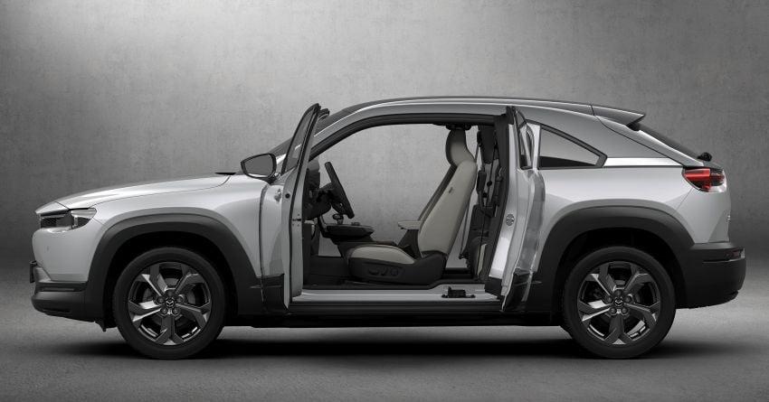 Tokyo 2019: Mazda MX-30 – brand's first EV debuts with 141 hp, 264 Nm, 209 km EV range, suicide doors! Image #1033823