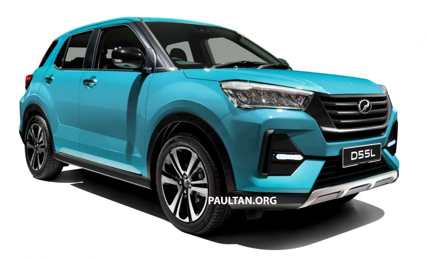 Upcoming Perodua D55L model rendered based on Daihatsu's New Compact SUV, as seen in Tokyo Image #1035999