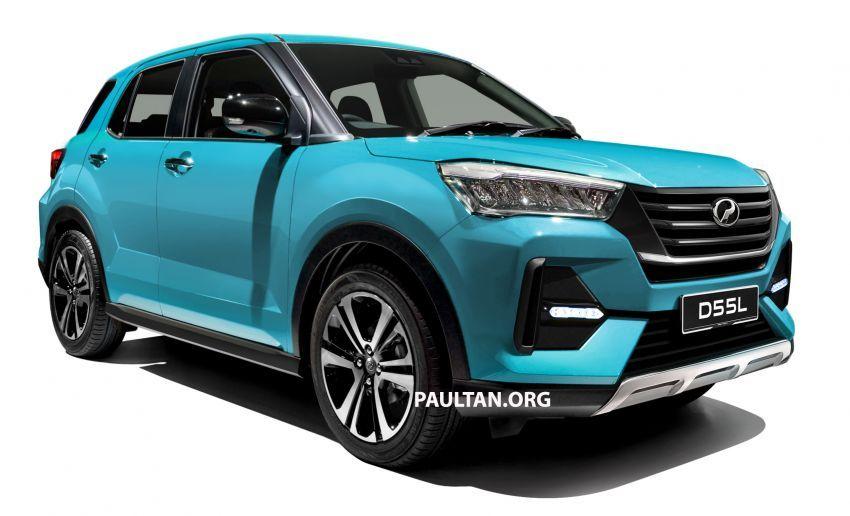 "Perodua D55L dalam imej <em>render</em> berdasarkan ""SUV Kompak Baru"" Daihatsu yang dipamer di Tokyo Image #1036532"