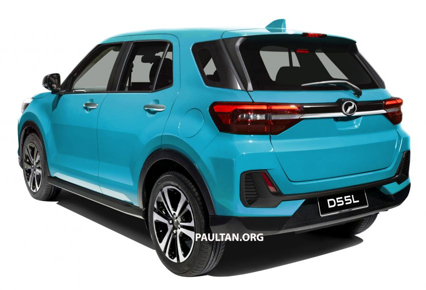Upcoming Perodua D55L model rendered based on Daihatsu's New Compact SUV, as seen in Tokyo Image #1036000