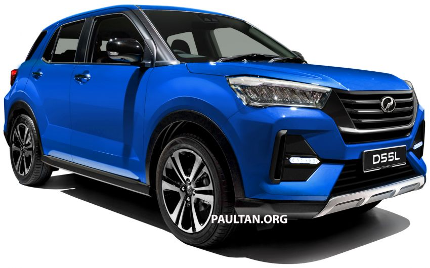 Upcoming Perodua D55L model rendered based on Daihatsu's New Compact SUV, as seen in Tokyo Image #1036001