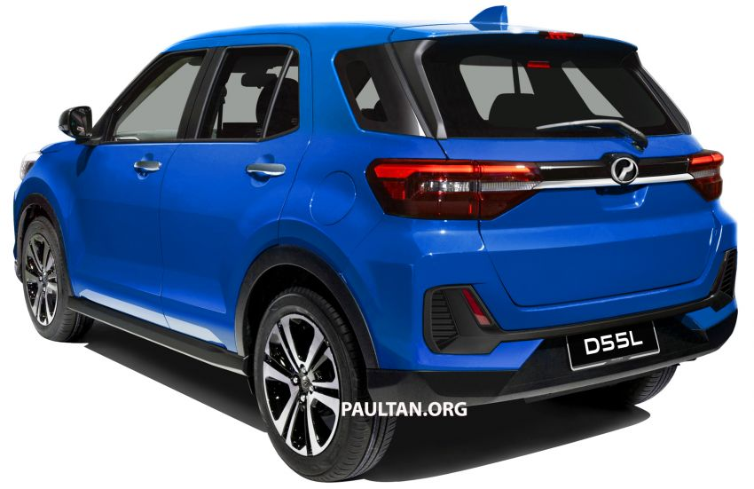 Upcoming Perodua D55L model rendered based on Daihatsu's New Compact SUV, as seen in Tokyo Image #1036002
