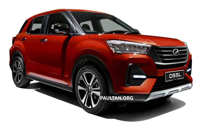 Upcoming Perodua D55L model rendered based on Daihatsu's New Compact SUV, as seen in Tokyo Image #1036003