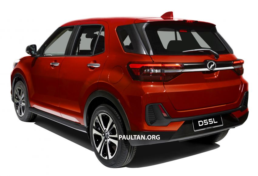 Upcoming Perodua D55L model rendered based on Daihatsu's New Compact SUV, as seen in Tokyo Image #1036004
