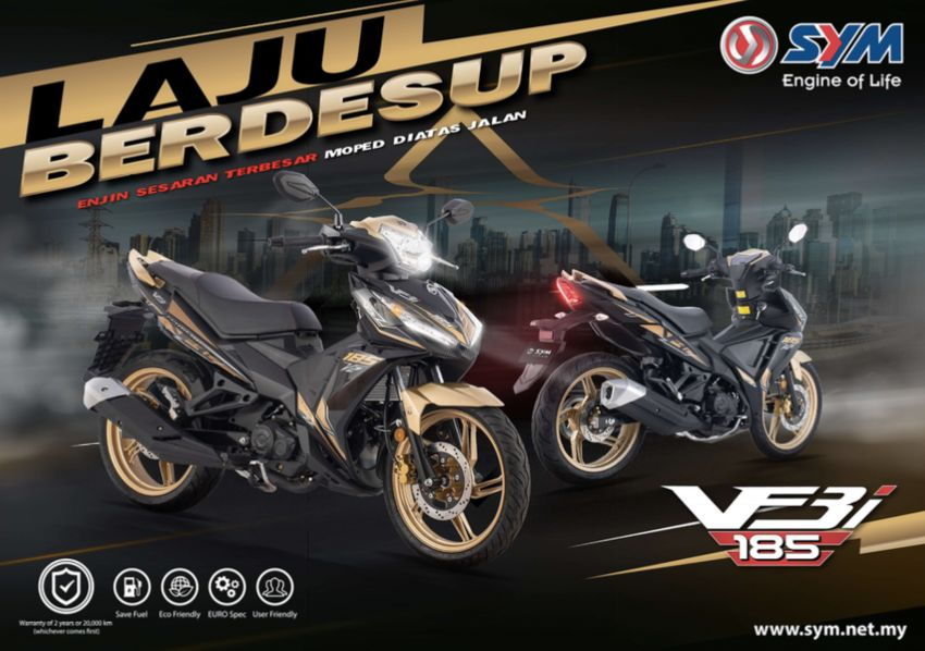 2020 SYM VF3i now in new colours – from RM8,338 Image #1036929