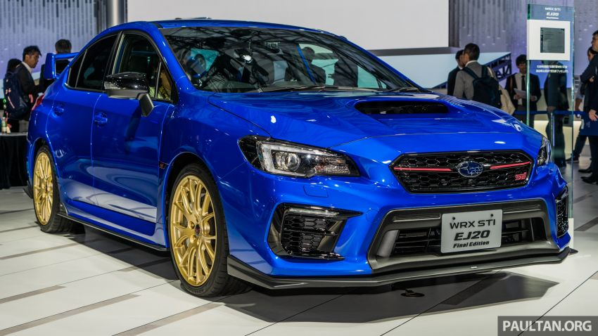 Tokyo 2019: Subaru WRX STI EJ20 Final Edition on display – limited to 555 units; 308 PS and 422 Nm Image #1036318