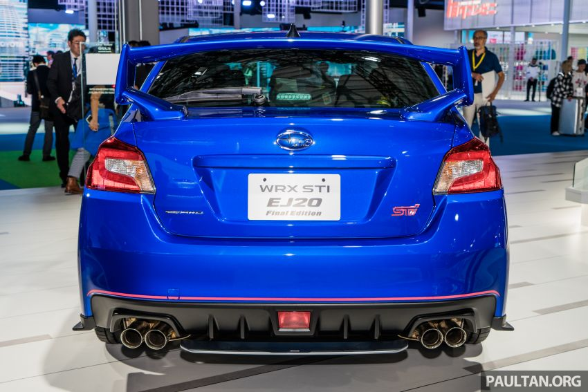 Tokyo 2019: Subaru WRX STI EJ20 Final Edition on display – limited to 555 units; 308 PS and 422 Nm Image #1036321