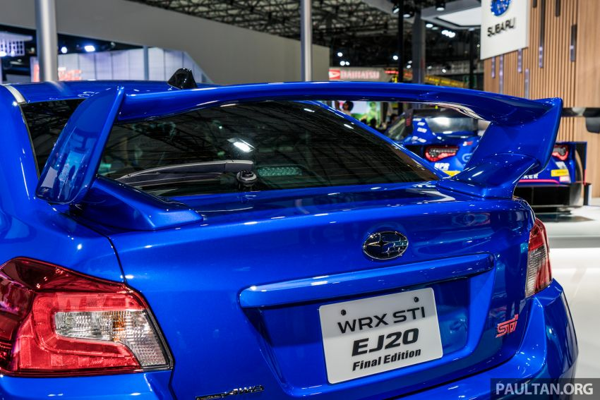Tokyo 2019: Subaru WRX STI EJ20 Final Edition on display – limited to 555 units; 308 PS and 422 Nm Image #1036323