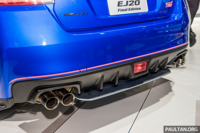Tokyo 2019: Subaru WRX STI EJ20 Final Edition on display – limited to 555 units; 308 PS and 422 Nm Image #1036324