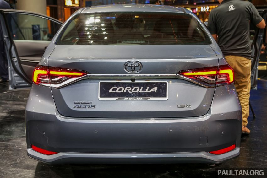 Toyota Corolla 2019 dilancar untuk pasaran Malaysia – dua varian, enjin 1.8L 139 PS, harga dari RM128,888 Image #1028393