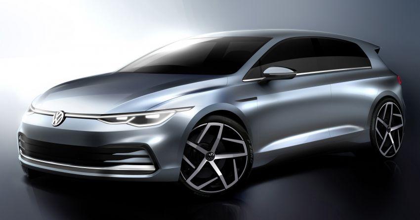 Mk8 Volkswagen Golf – additional design sketches revealed ahead of hatchback's debut on October 24 Image #1028795