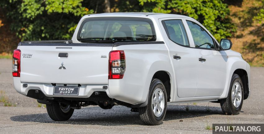 Mitsubishi Triton Quest facelift launched in Malaysia – low rider 4×2 workhorse gets Dynamic Shield, RM80k Image #1045819