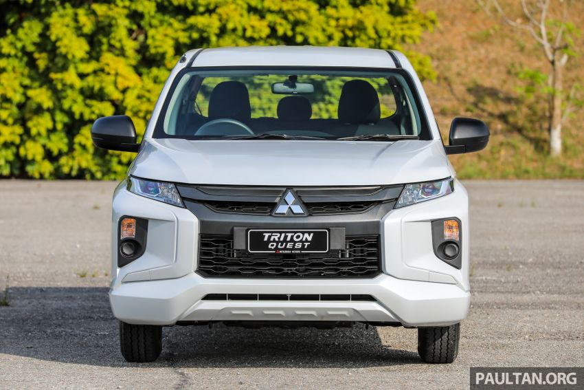 Mitsubishi Triton Quest facelift launched in Malaysia – low rider 4×2 workhorse gets Dynamic Shield, RM80k Image #1045821