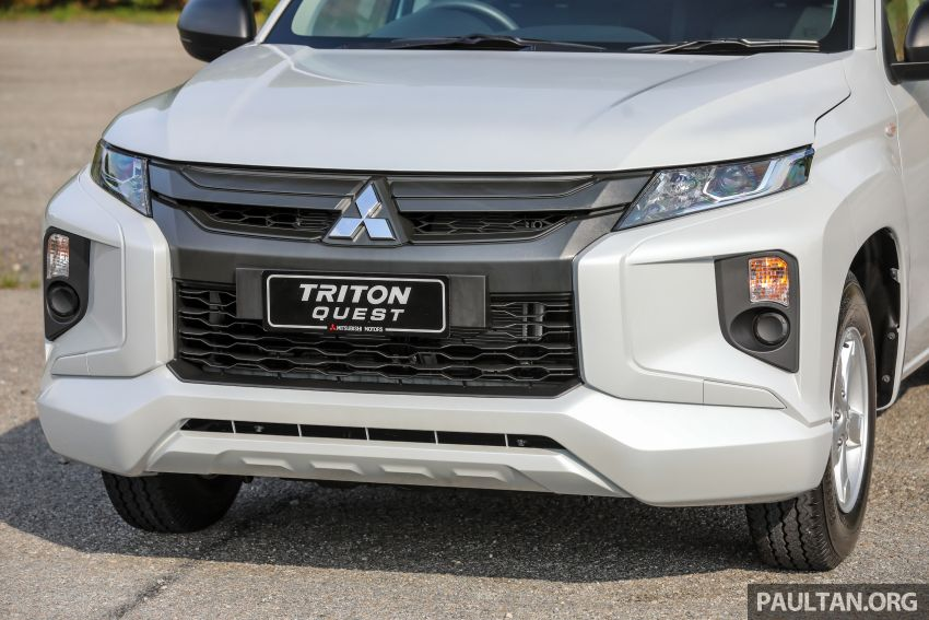 Mitsubishi Triton Quest facelift launched in Malaysia – low rider 4×2 workhorse gets Dynamic Shield, RM80k Image #1045823