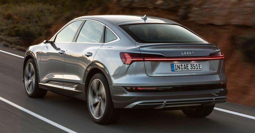 2020 Audi e-tron Sportback – sleek SUV coupe debuts with 355 hp, 561 Nm; 0-100 km/h in 6.6s, 446 km range Image #1048491