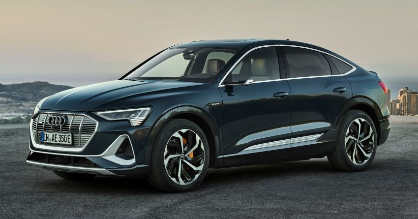 2020 Audi e-tron Sportback – sleek SUV coupe debuts with 355 hp, 561 Nm; 0-100 km/h in 6.6s, 446 km range Image #1048500