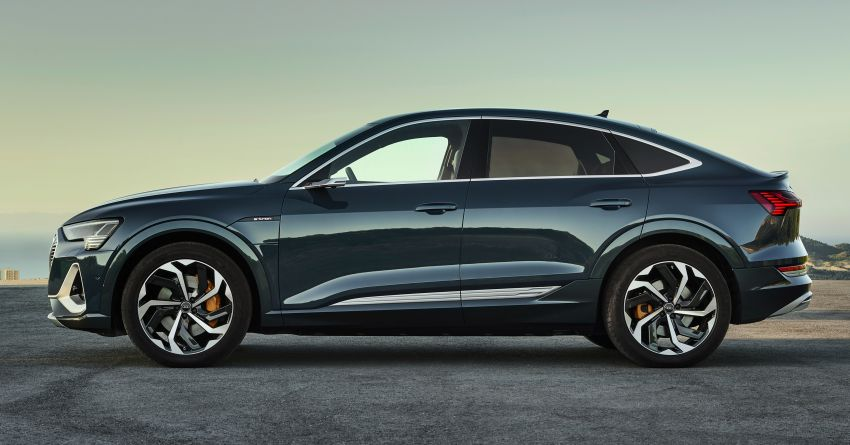 2020 Audi e-tron Sportback – sleek SUV coupe debuts with 355 hp, 561 Nm; 0-100 km/h in 6.6s, 446 km range Image #1048502