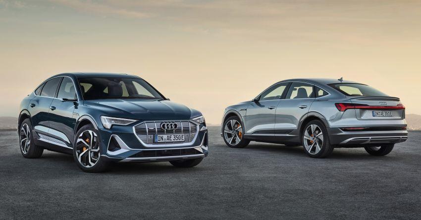 2020 Audi e-tron Sportback – sleek SUV coupe debuts with 355 hp, 561 Nm; 0-100 km/h in 6.6s, 446 km range Image #1048504