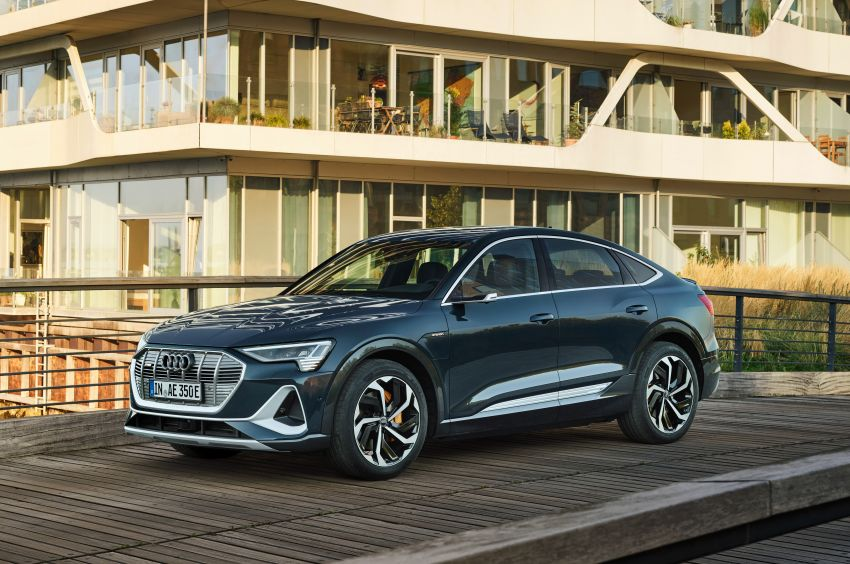 2020 Audi e-tron Sportback – sleek SUV coupe debuts with 355 hp, 561 Nm; 0-100 km/h in 6.6s, 446 km range Image #1048506