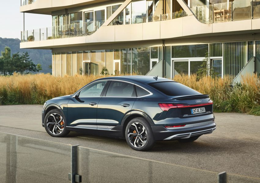2020 Audi e-tron Sportback – sleek SUV coupe debuts with 355 hp, 561 Nm; 0-100 km/h in 6.6s, 446 km range Image #1048507