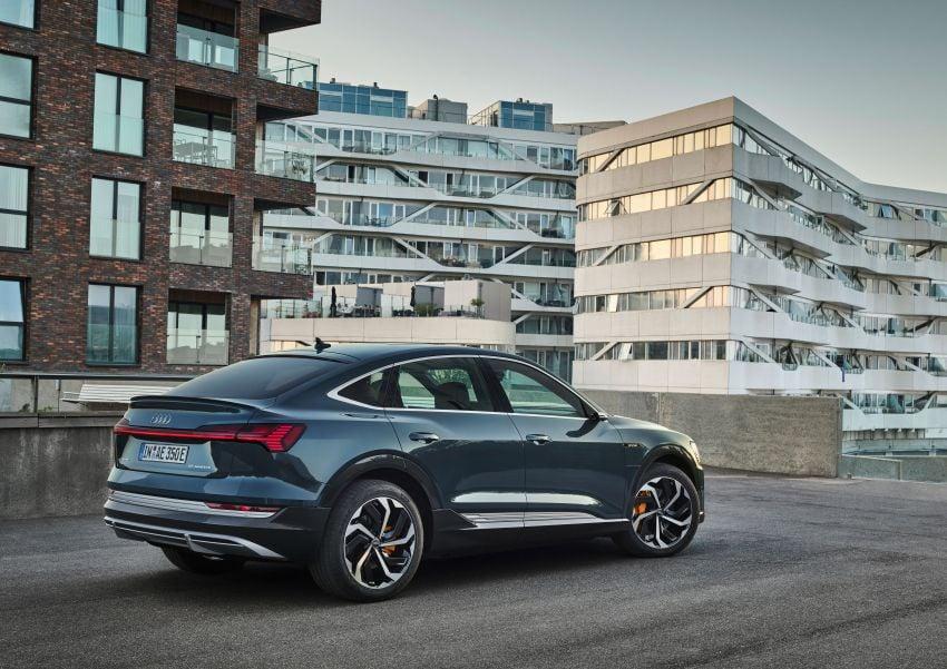 2020 Audi e-tron Sportback – sleek SUV coupe debuts with 355 hp, 561 Nm; 0-100 km/h in 6.6s, 446 km range Image #1048508