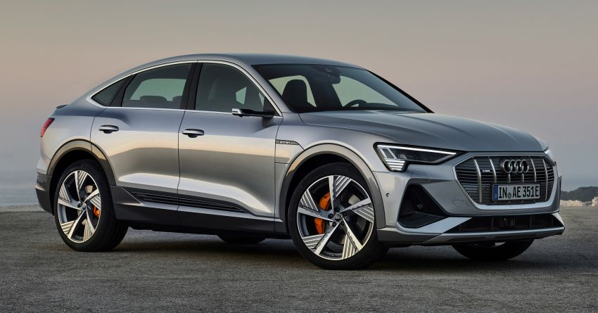 2020 Audi e-tron Sportback – sleek SUV coupe debuts with 355 hp, 561 Nm; 0-100 km/h in 6.6s, 446 km range Image #1048510