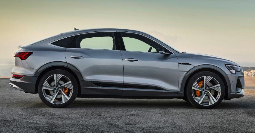 2020 Audi e-tron Sportback – sleek SUV coupe debuts with 355 hp, 561 Nm; 0-100 km/h in 6.6s, 446 km range Image #1048511